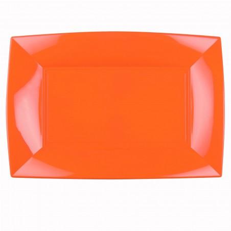 Bandeja Plastico Naranja Nice PP 345x230mm (60 Uds)