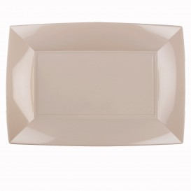 Bandeja de Plastico Beige Nice PP 345x230mm (6 Uds)