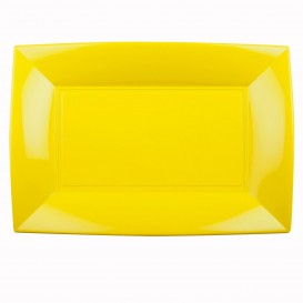 Bandeja de Plastico Amarillo Nice PP 345x230mm (6 Uds)