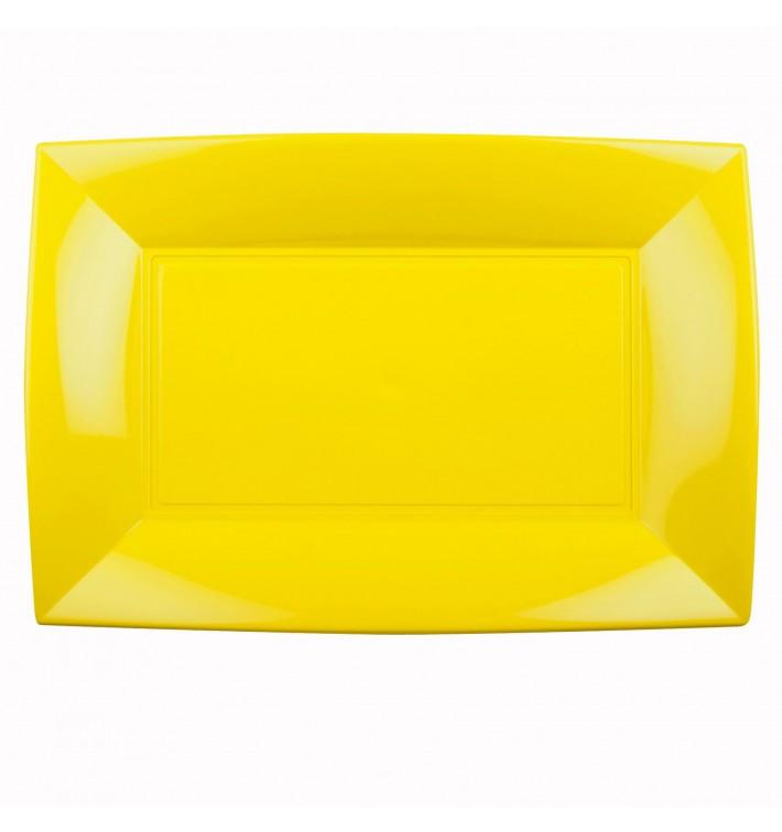 Bandeja de Plastico Amarillo Nice PP 345x230mm (30 Uds)