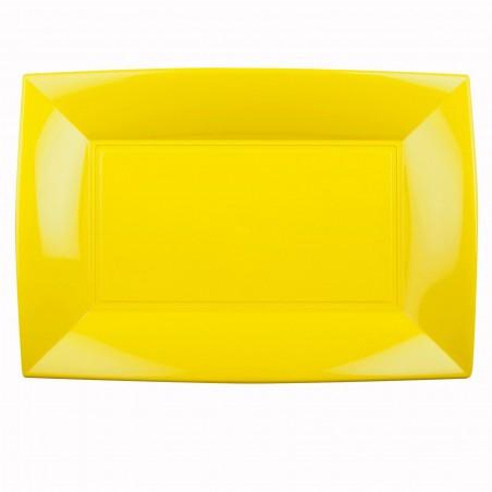 Bandeja Plastico Amarillo Nice PP 345x230mm (60 Uds)