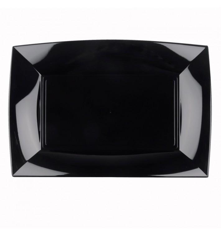 Bandeja de Plastico Negro Nice PP 345x230mm (30 Uds)