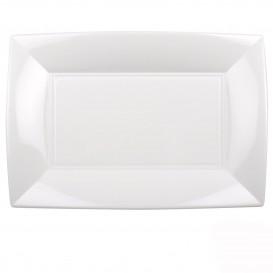 Bandeja de Plastico Blanco Nice PP 345x230mm (6 Uds)