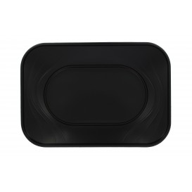 "Bandeja de Plastico PP ""X-Table"" Negro 330x230mm (2 Uds)"