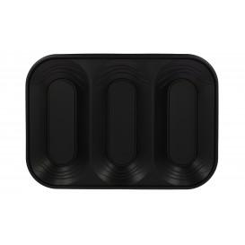 "Bandeja de Plastico PP ""X-Table"" 3C Negro 330x230mm (2 Uds)"