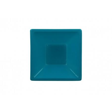 Bol de Plastico Cuadrado Turquesa 120x120x40mm (720 Uds)