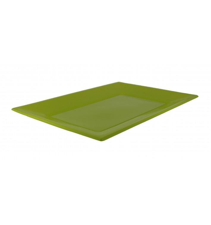 Bandeja de Plastico Pistacho 330x225mm (180 Uds)
