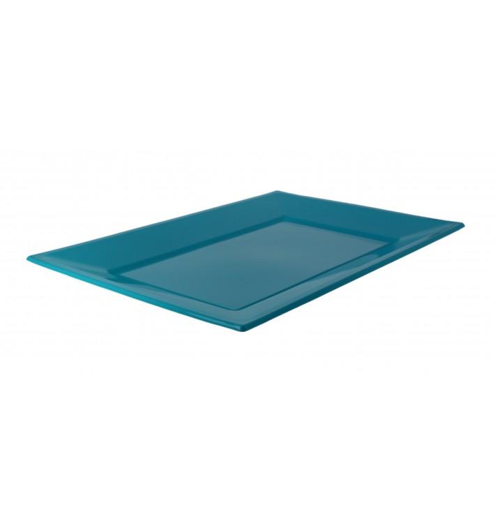 Bandeja de Plastico Turquesa 330x225mm (25 Uds)