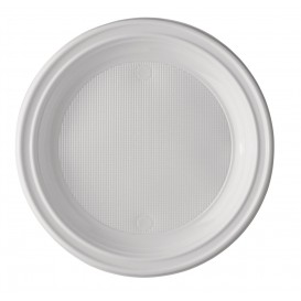Plato de Plastico PS 1 Compartimento 220 mm (100 Uds)