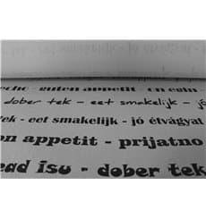 "Mantel Papel Rollo ""Buen Provecho"" 1,2x100m 37g (1 Ud)"