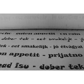 "Mantel Papel Rollo ""Buen Provecho"" 1,2x100m 37g (6 Uds)"
