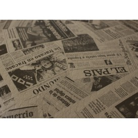 "Mantel de Papel Cortado 1x1m Kraft ""Prensa"" 37g (400 Uds)"