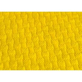 Mantel de Papel Cortado 1x1 Metro Amarillo 40g (400 Uds)