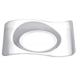 Plato Degustacion Forma Transparente 8x6,6 cm (50 Uds)