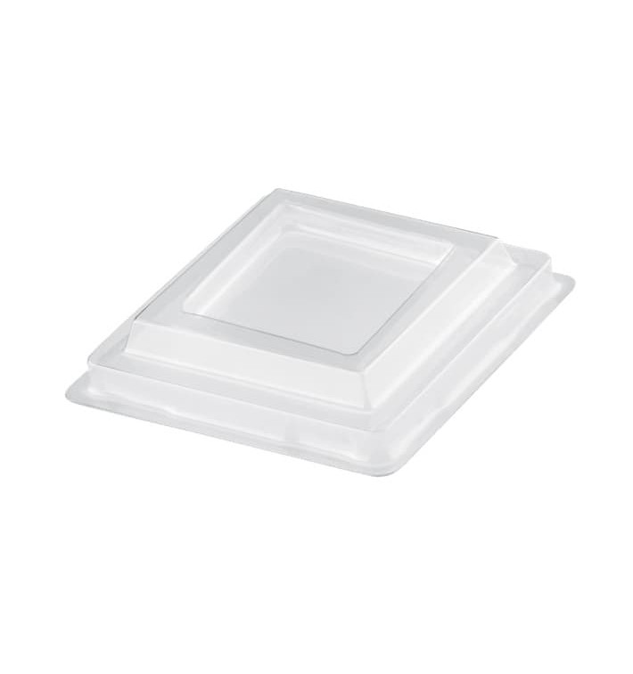 Tapa Vaso Rombo Transparente PET 95 ml (25 Uds)