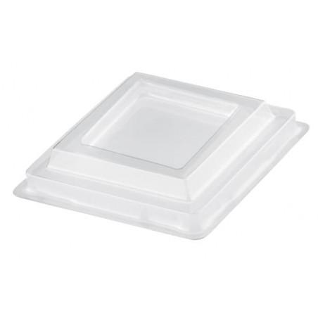 Tapa Vaso Diamond Transparente PET 95 ml (1000 Uds)