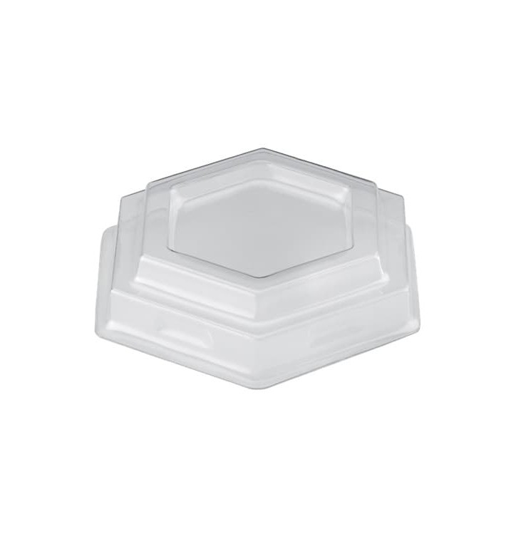 Tapa Vaso Gardenia Dessert Transparente PET 100 ml (25 Uds)