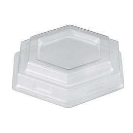 Tapa Vaso Gardenia Dessert Transparente PET 100 ml (1000 Uds)