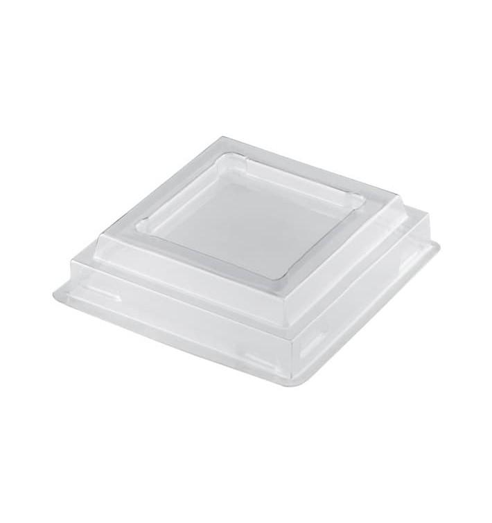 Tapa Vaso Onda Transparente PET 100ml (25 Uds)