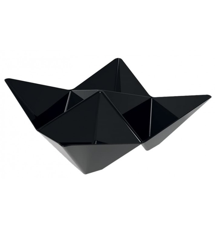 Bol Degustación Origami PS Negro 103x103mm (500 Unidades)