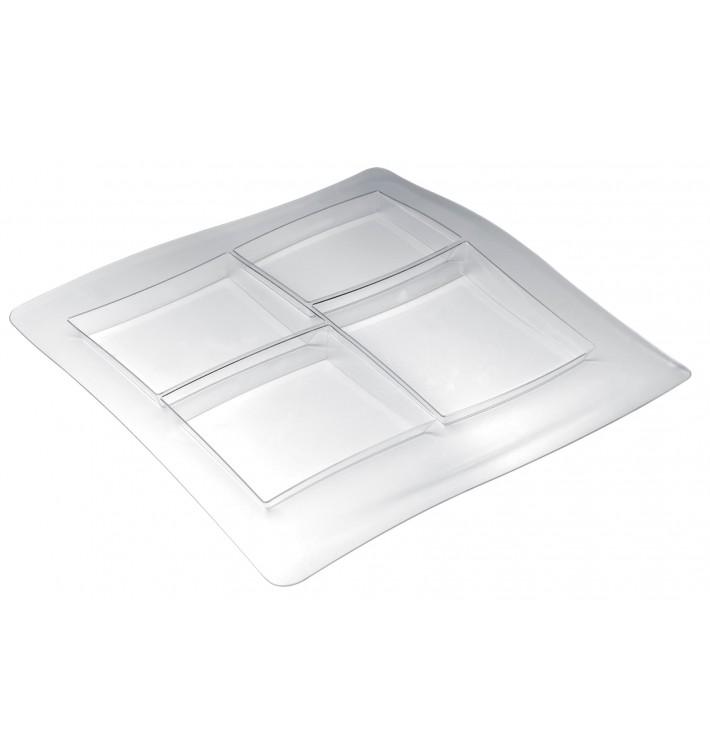 Bandeja de Plastico FoodPoker 4C 360x360 mm (12 Uds)