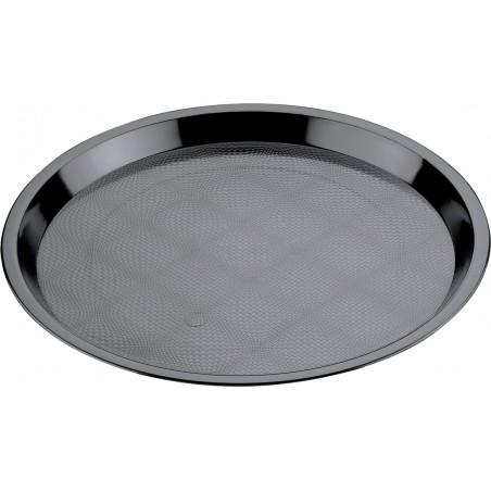 Bandeja Reutilizable PS Tray Negra Ø32cm (5 Uds)
