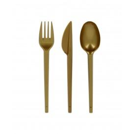 Cuchillo de Plastico PS Oro 165mm (600 Uds)