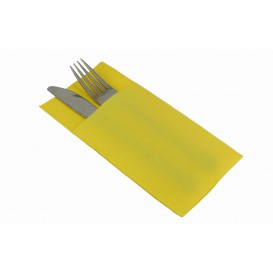 Servilleta Portacubiertos de Papel Amarillo 40x40cm (960 Uds)