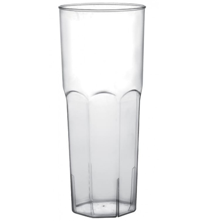 Vaso Plastico Tubo Transp. PP Ø65mm 350ml (10 Uds)