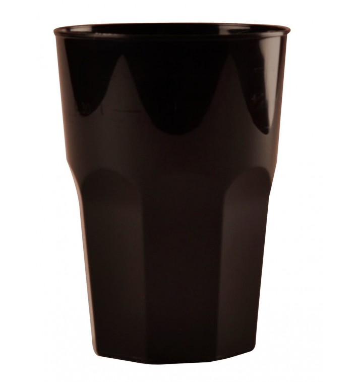 Vaso Plastico para Cocktail Negro PP Ø84mm 350ml (200 Uds)