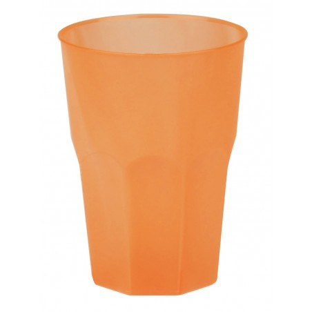 Vaso de Plastico Naranja PP 350ml (20 Uds)
