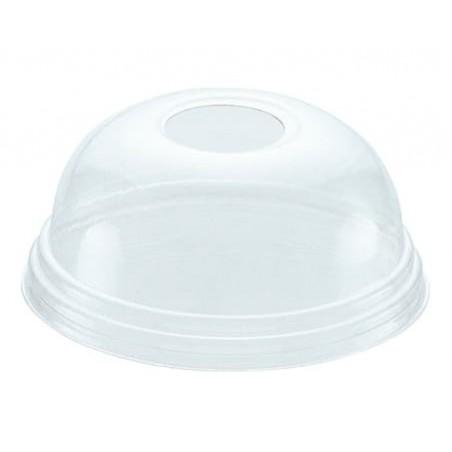Tapa Cúpula con Agujero PET Cristal Ø8,1cm (1000 Uds)