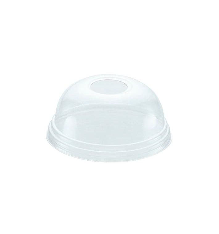 Tapa Cupula Agujero Vaso PET 545ml y 610ml Ø9,8cm (100 Uds)
