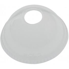 Tapa Cúpula Agujero Vaso Solo Ultra Clear 16Oz Ø9,86 y 24Oz (100 Uds)