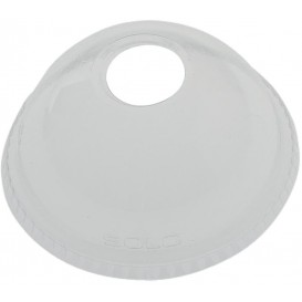 Tapa Cúpula Agujero Vaso Solo Ultra Clear 16Oz Ø9,86 y 24Oz (1000 Uds)