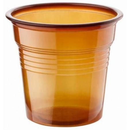 Vaso de Plastico PS Marrón 80ml Ø5,7cm (50 Uds)
