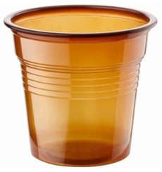 Vaso de Plastico PS Marrón 80ml Ø5,7cm (2400 Uds)