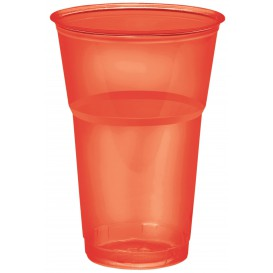 "Vaso ""Diamant"" PS Cristal Rojo 250ml Ø7,3cm (10 Uds)"