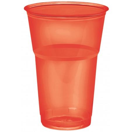 "Vaso ""Diamant"" PS Cristal Rojo 250ml Ø7,2cm (200 Uds)"