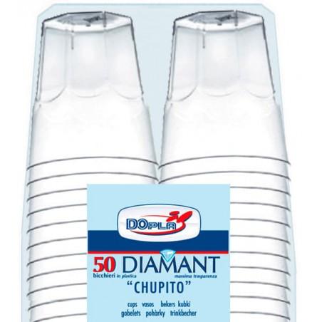 """Vaso Plastico Chupito """"Diamant"""" PS Cristal 50ml (50 Uds)"""