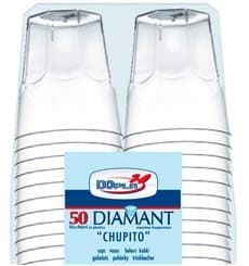 "Vaso Plastico ""Diamant"" PS Cristal 50ml (50 Uds)"