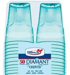 "Vaso Plastico ""Diamant"" PS Cristal Azul 50ml (50 Uds)"