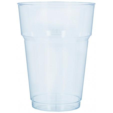 Vaso de Cerveza PS Transparente Cristal 200 ml (40 Uds)