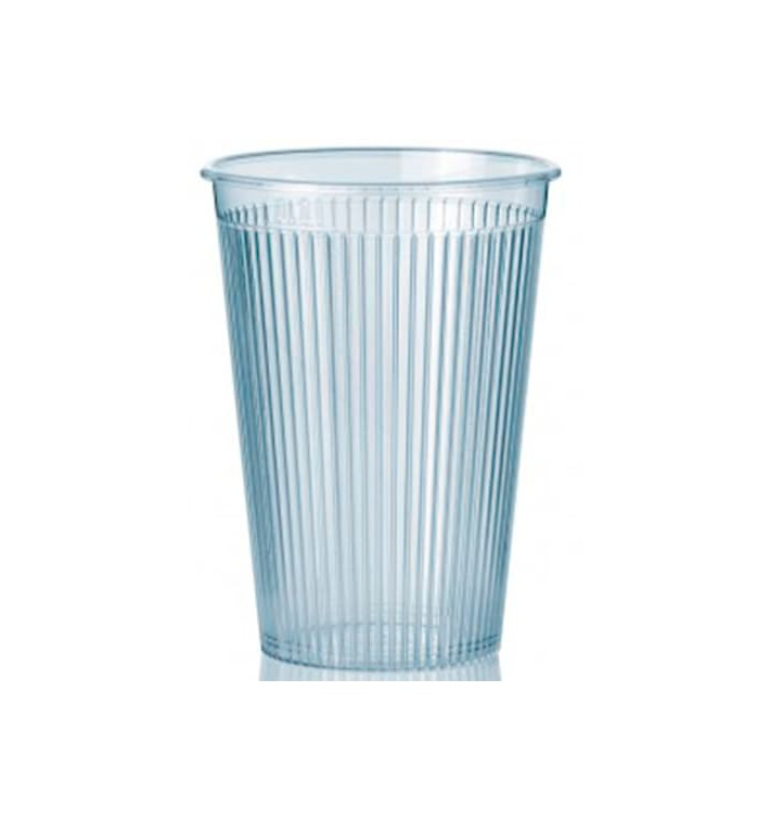 "Vaso ""Ribbed"" PS Transparente 200 ml (25 Unidades)"