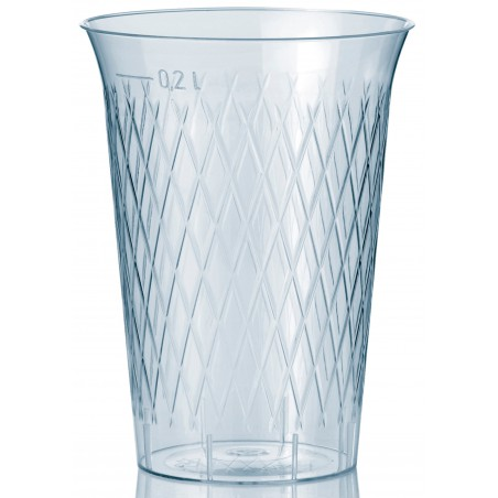 Vaso Inyectado Rombos PS 200 ml (1000 Uds)