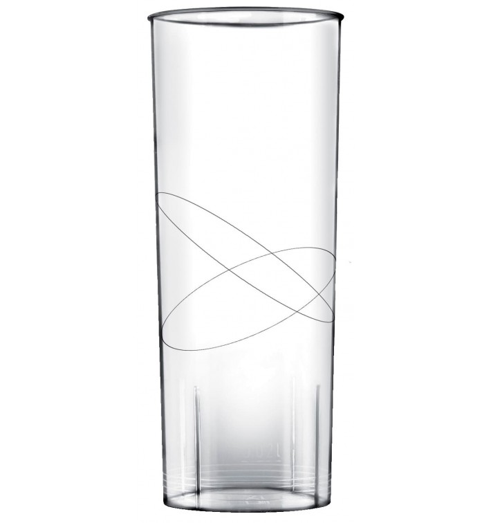 Vaso de Plastico Moon Transparente PS 300ml (10 Uds)