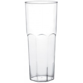 Vaso Plastico Tubo Transp. PS Ø65mm 350ml (10 Uds)