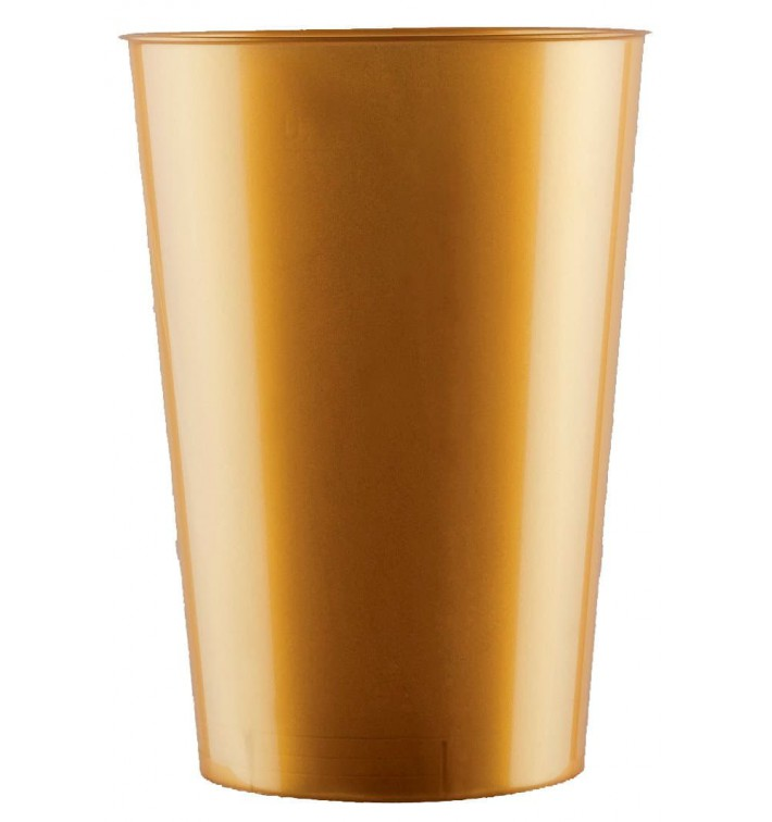 Vaso de Plastico Moon Oro PS 230ml (350 Uds)