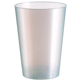 Vaso de Plastico Moon Blanco Pearl PS 230ml (500 Uds)
