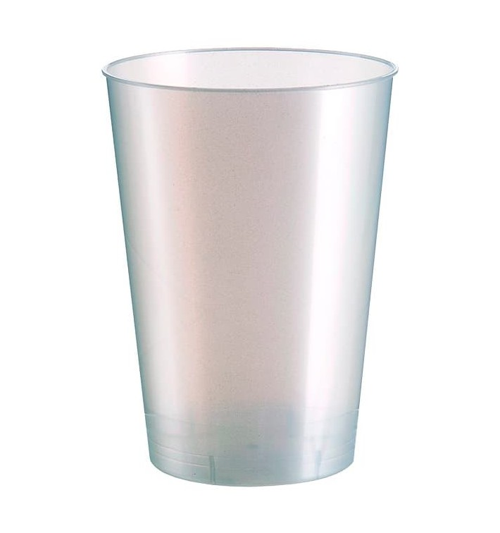 Vaso de Plastico Moon Blanco Pearl PS 230ml (1000 Uds)